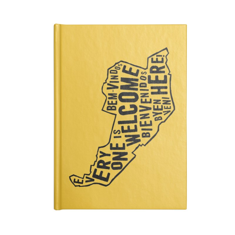 Everyone is Welcome Here - Logo Black Vertical Accessories Notebook by ESCS PTA's Shop