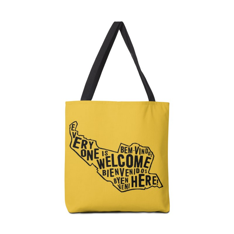 Everyone is Welcome Here - Logo Black Vertical Accessories Bag by ESCS PTA's Shop