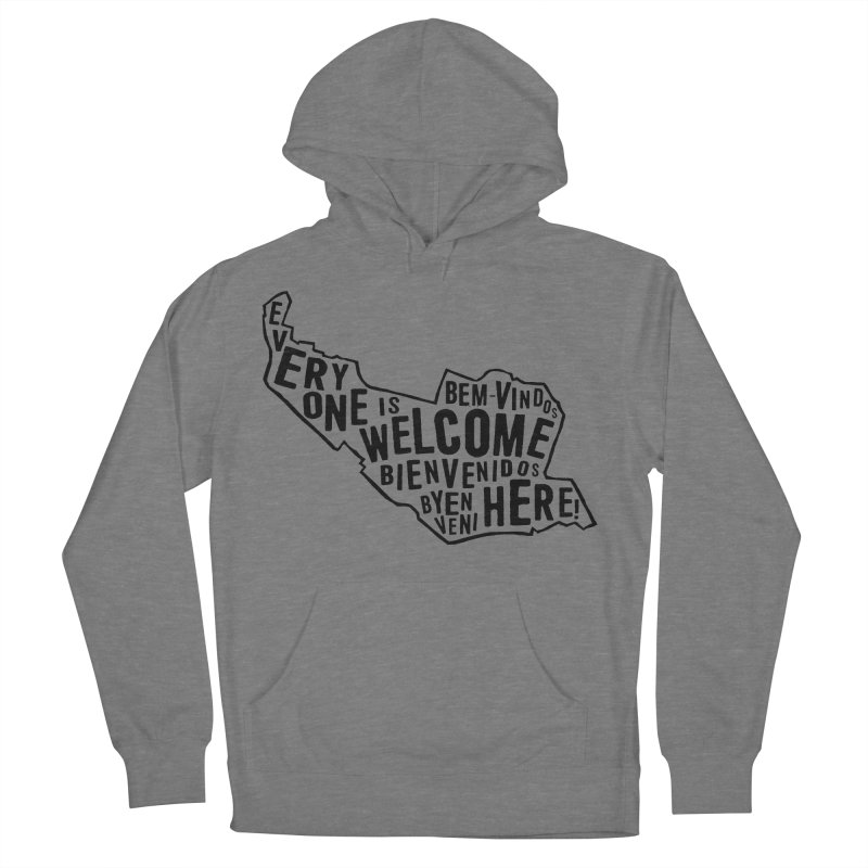 Everyone Is Welcome Here - Logo Black in Women's French Terry Pullover Hoody Heather Graphite by ESCS PTA's Shop