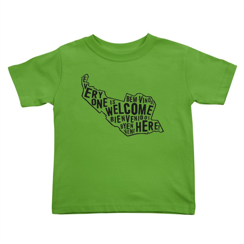 Everyone Is Welcome Here - Logo Black in Kids Toddler T-Shirt Apple by ESCS PTA's Shop