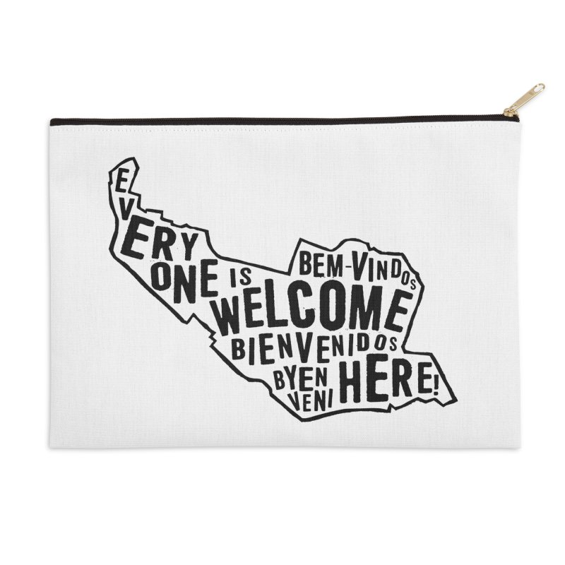 Everyone Is Welcome Here - Logo Black Accessories Zip Pouch by ESCS PTA's Shop