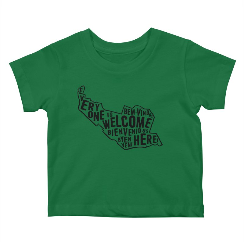 Everyone Is Welcome Here - Logo Black Kids Baby T-Shirt by ESCS PTA's Shop