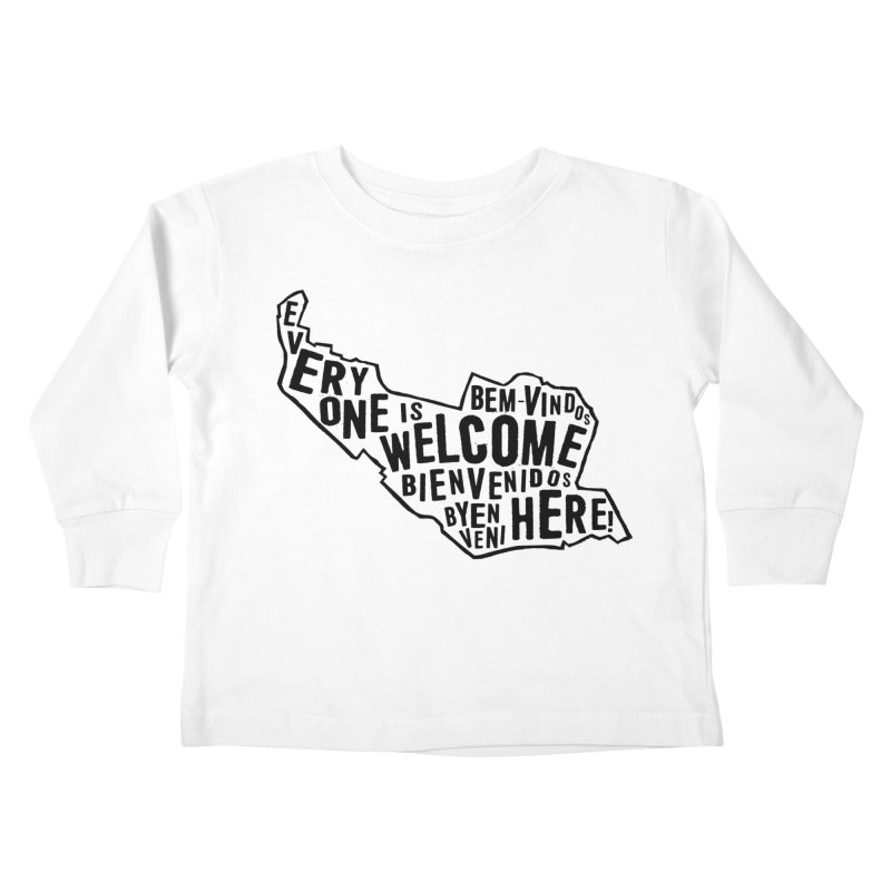 Everyone Is Welcome Here - Logo Black Kids Toddler Longsleeve T-Shirt by ESCS PTA's Shop