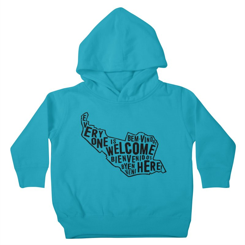 Everyone Is Welcome Here - Logo Black Kids Toddler Pullover Hoody by ESCS PTA's Shop