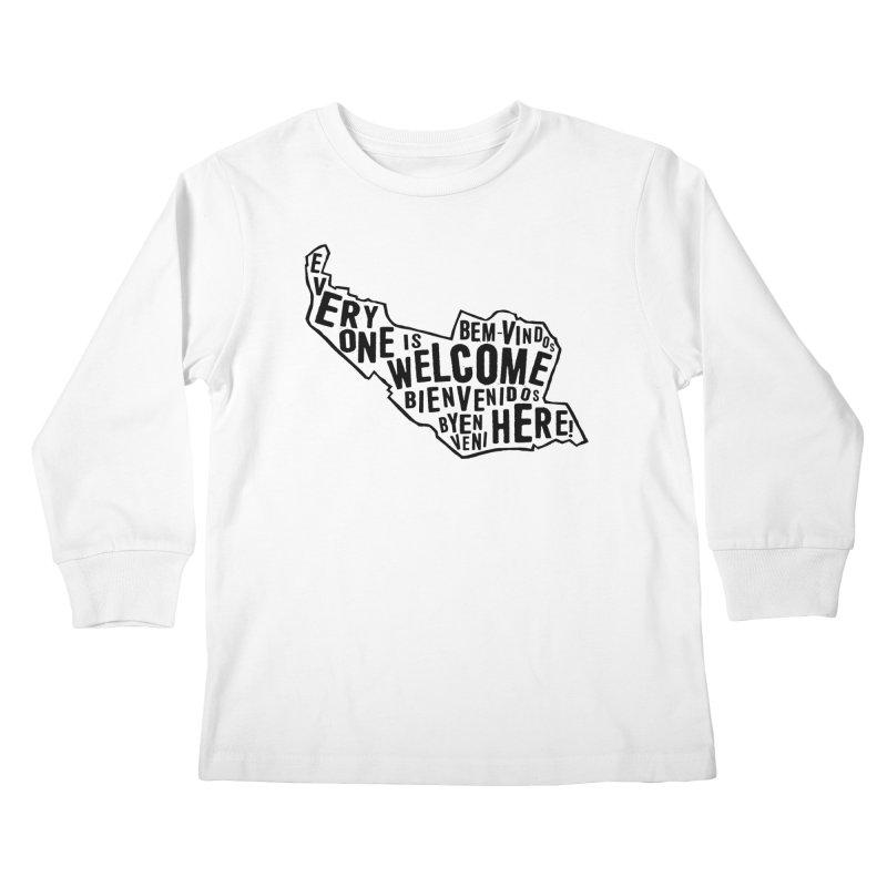 Everyone Is Welcome Here - Logo Black Kids Longsleeve T-Shirt by ESCS PTA's Shop