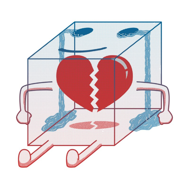 Little Box of Broken Heart Men's T-Shirt by Hola ! Welcome to esnobodidi world