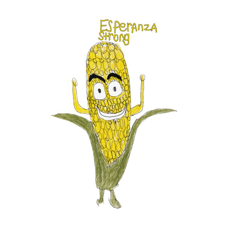 Edwin's Strong Corn Man Men's T-Shirt by Esperanza Community's Artist Shop