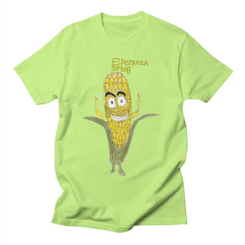 Edwin's Strong Corn Man Men's T-Shirt by Esperanza Community's Artist Shop