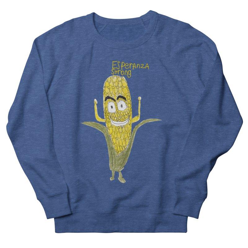 Edwin's Strong Corn Man Men's Sweatshirt by Esperanza Community's Artist Shop
