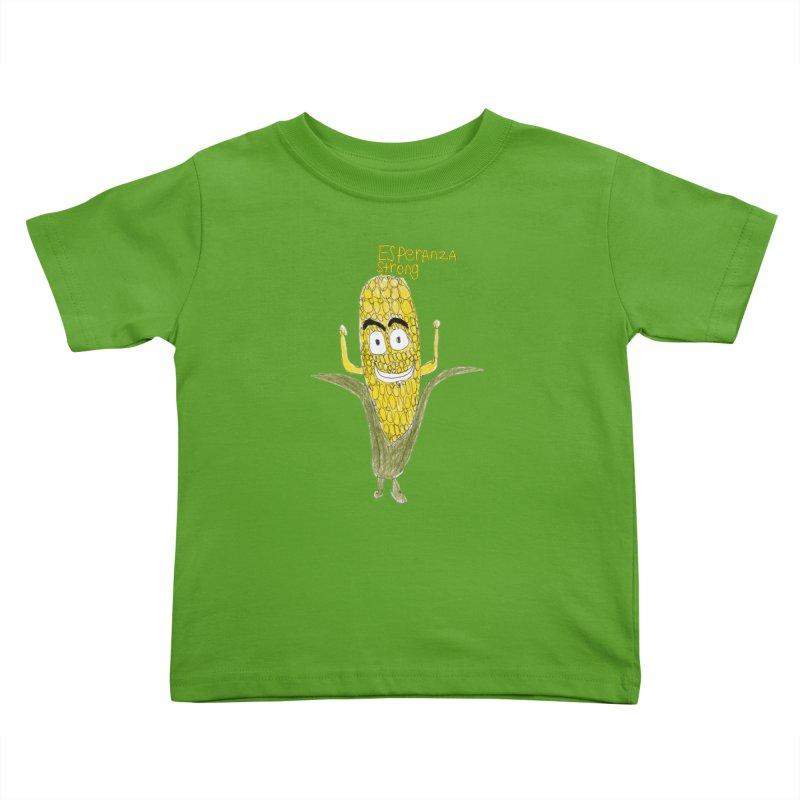 Edwin's Strong Corn Man Kids Toddler T-Shirt by Esperanza Community's Artist Shop