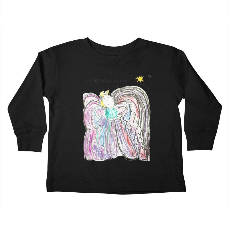 Angel by Lydia Kids Toddler Longsleeve T-Shirt by Esperanza Community's Artist Shop