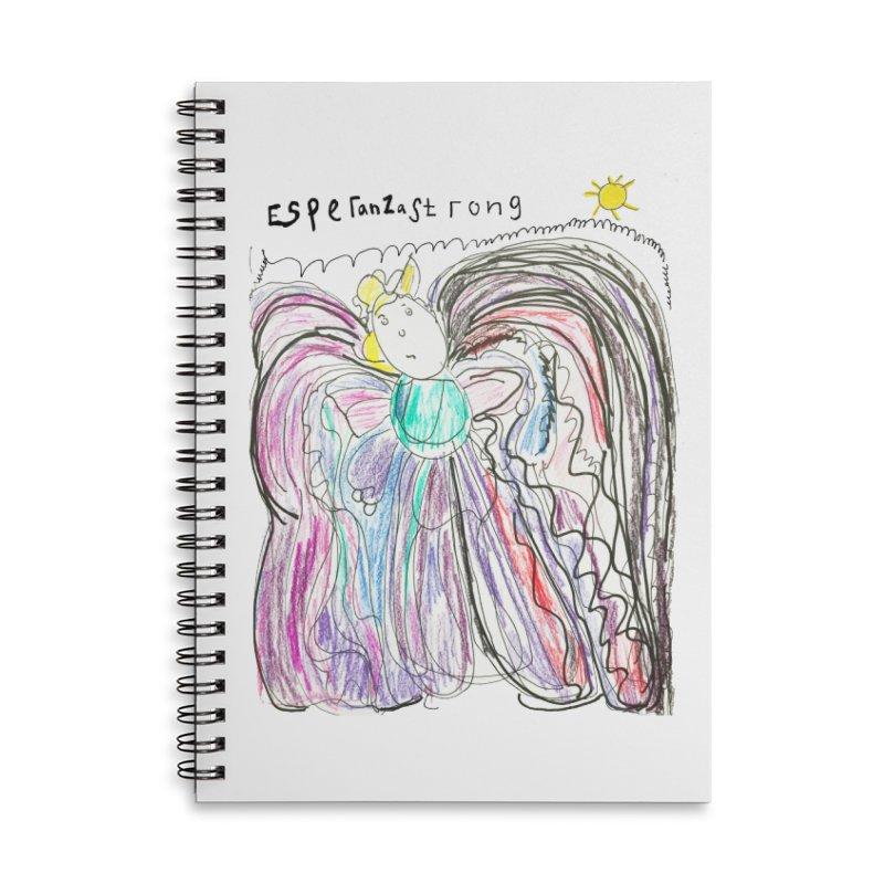 Angel by Lydia Accessories Notebook by Esperanza Community's Artist Shop