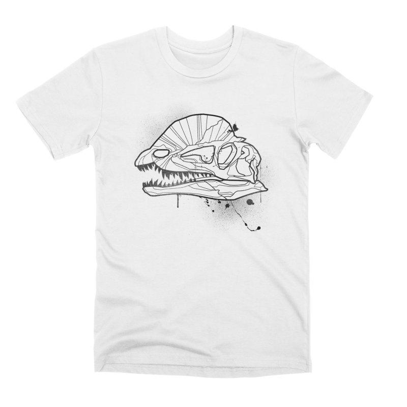 Dilo Skull - BLACK Men's T-Shirt by EP Designs's Designs n Such