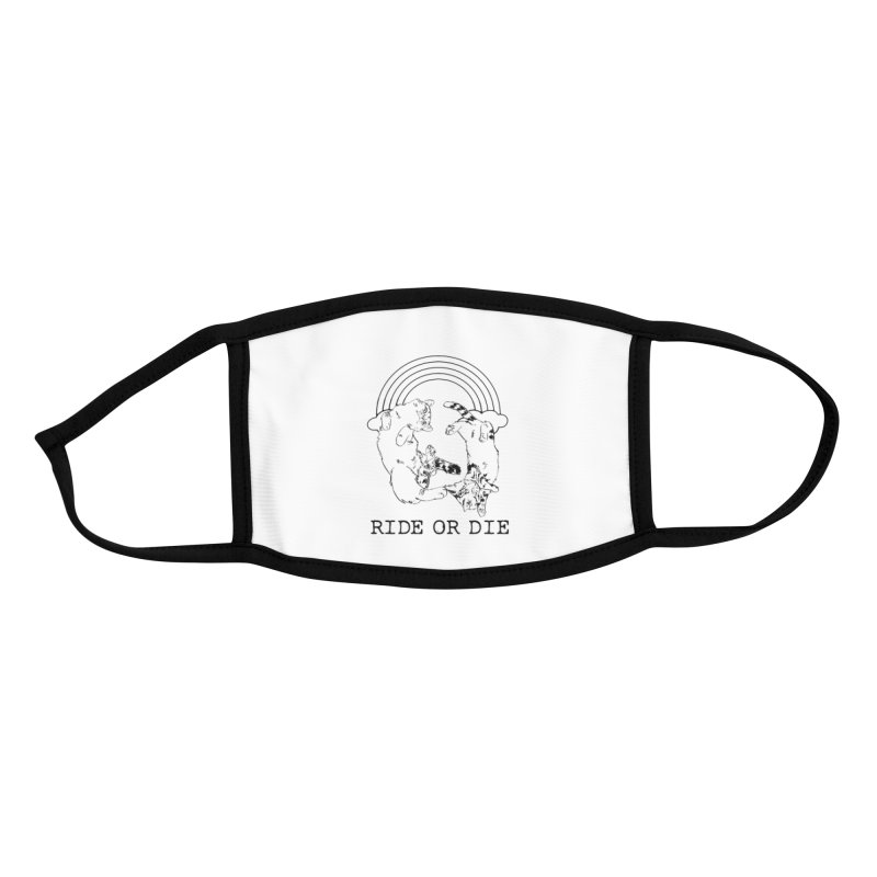 Ride or Die - BLACK Accessories Face Mask by EP Designs's Designs n Such