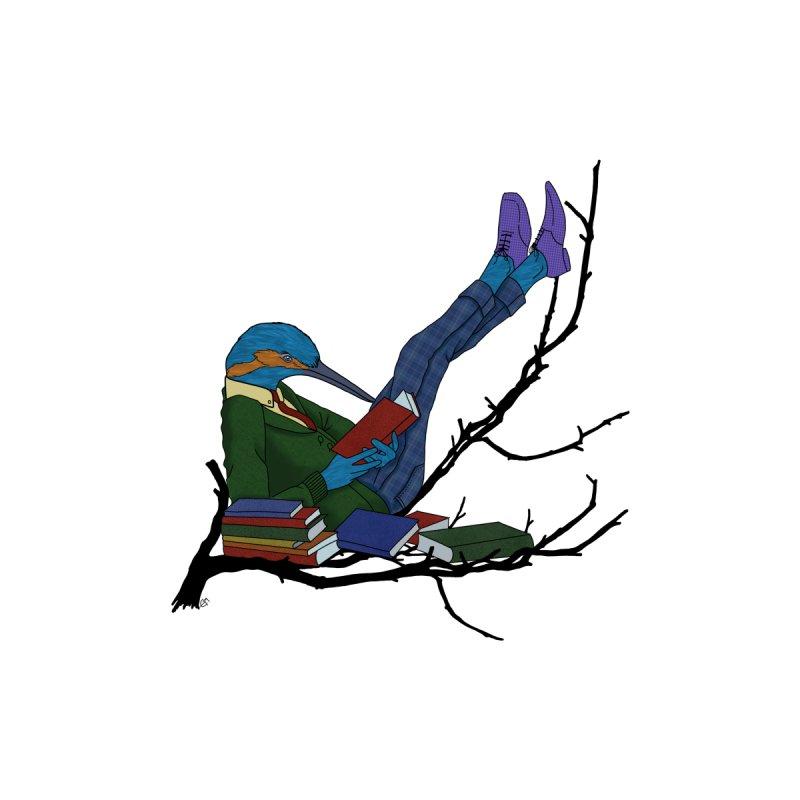 bird reading Men's T-Shirt by estanisaboal's Artist Shop