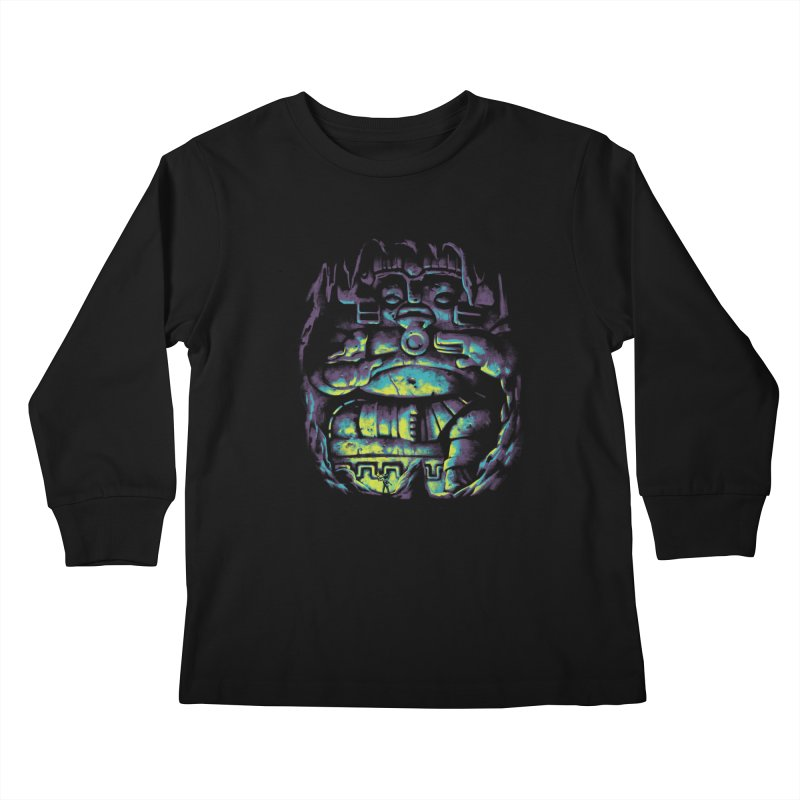 Secret Cave Kids Longsleeve T-Shirt by EstivaShop