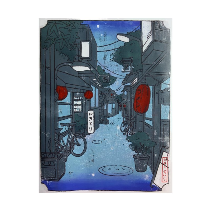 Streetlights and Lanterns (Color Print) Men's T-Shirt by Emily's Artist Shop (all profits to organizations)