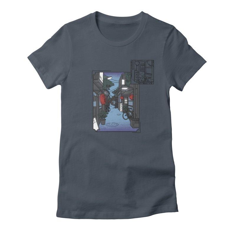 Streetlights and Lanterns (Digital Snapshot Design Light Tee) Women's T-Shirt by Emily's Artist Shop (all profits to organizations)