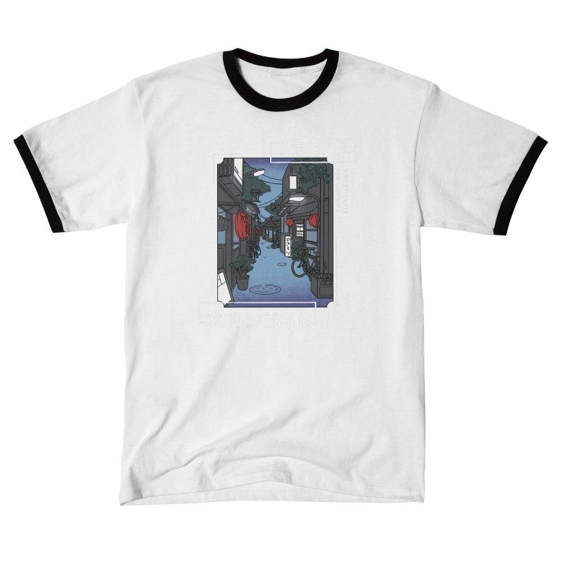 Streetlights and Lanterns (Digital Graphic Dark Tee Design) Women's T-Shirt by Emily's Artist Shop (all profits to organizations)
