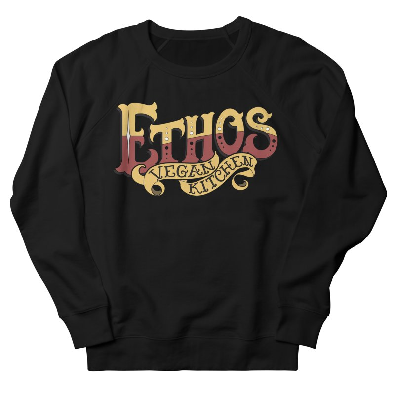 Ethos Logo Women's French Terry Sweatshirt by Ethos Vegan Kitchen's Logo Shop