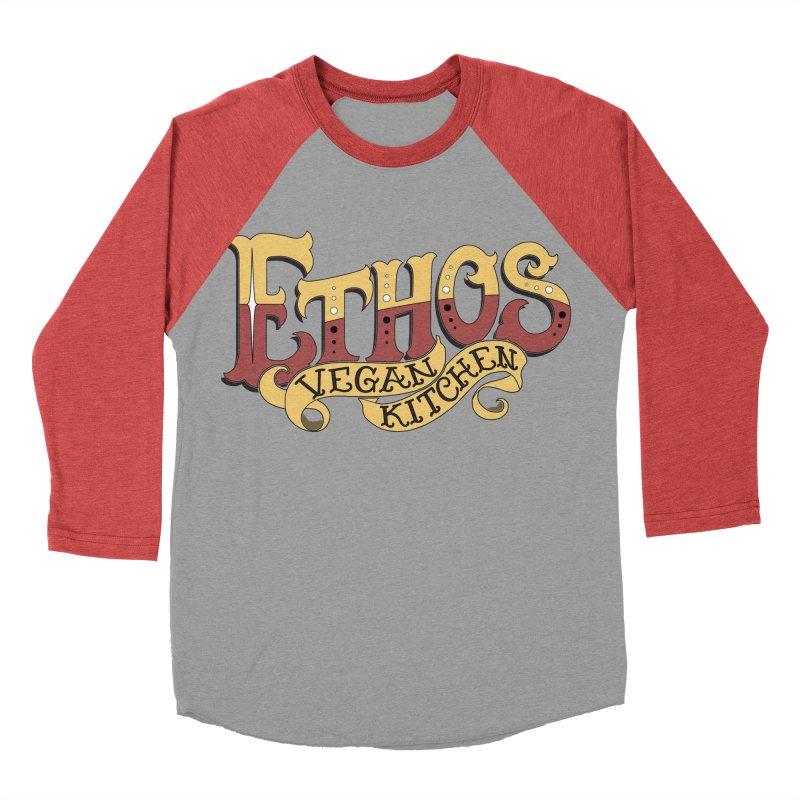 Ethos Logo Women's Baseball Triblend Longsleeve T-Shirt by Ethos Vegan Kitchen's Logo Shop