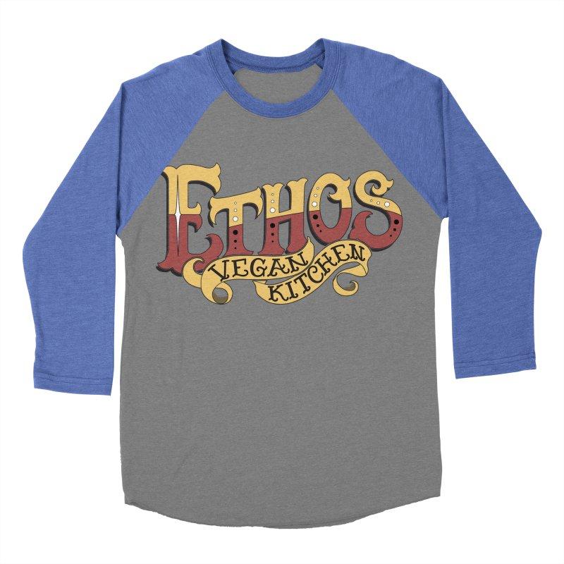 Ethos Logo Men's Baseball Triblend T-Shirt by Ethos Vegan Kitchen's Logo Shop