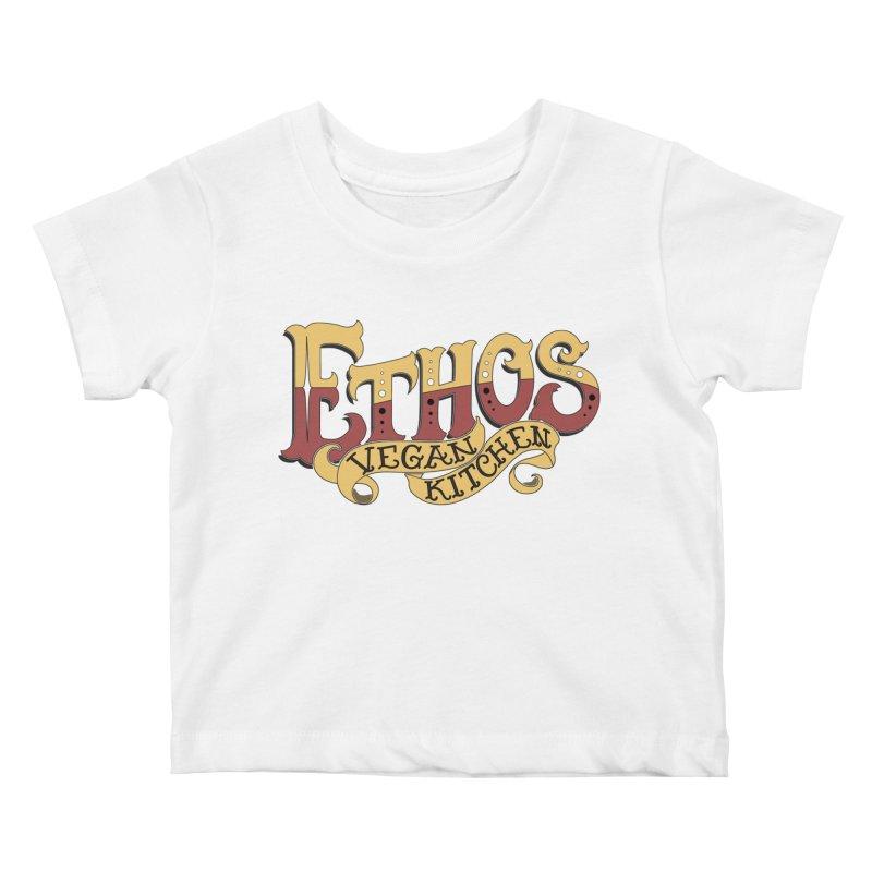 Ethos Logo Kids Baby T-Shirt by Ethos Vegan Kitchen's Logo Shop