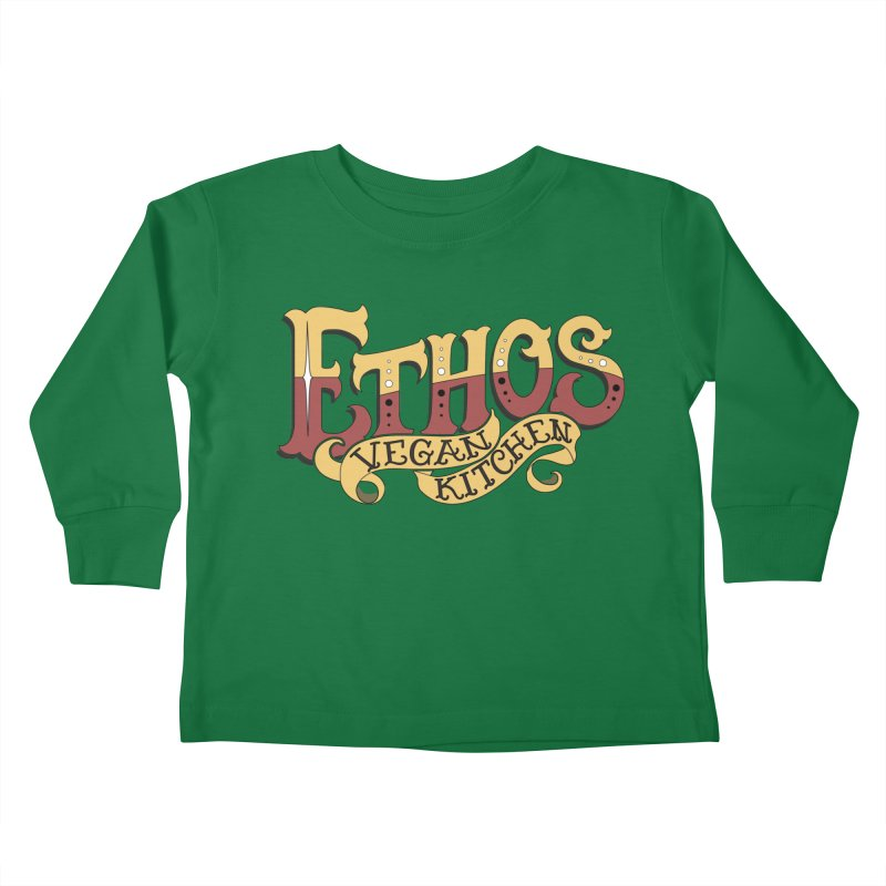 Ethos Logo Kids Toddler Longsleeve T-Shirt by Ethos Vegan Kitchen's Logo Shop