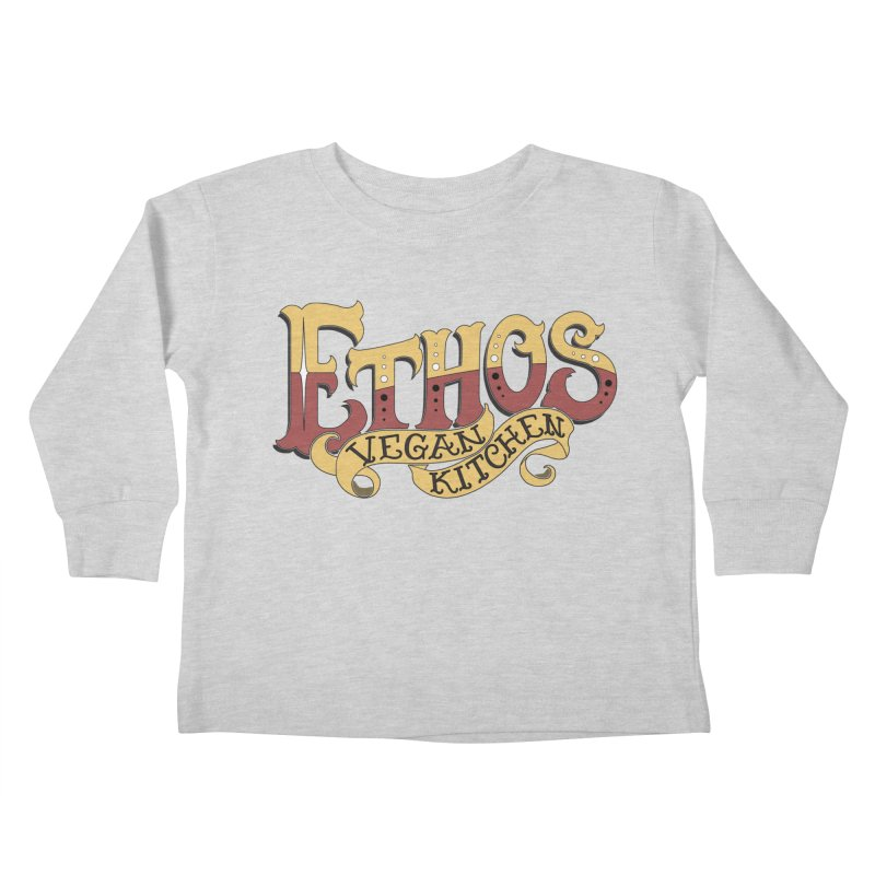 Ethos Logo Kids Toddler Longsleeve T-Shirt by Ethos Vegan Kitchen's Logo Shop