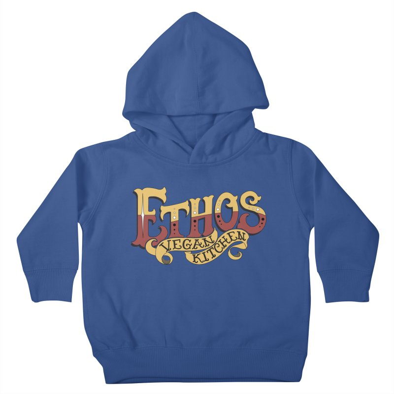 Ethos Logo Kids Toddler Pullover Hoody by Ethos Vegan Kitchen's Logo Shop