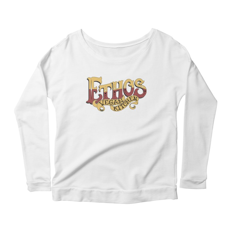 Ethos Logo Women's Scoop Neck Longsleeve T-Shirt by Ethos Vegan Kitchen's Logo Shop