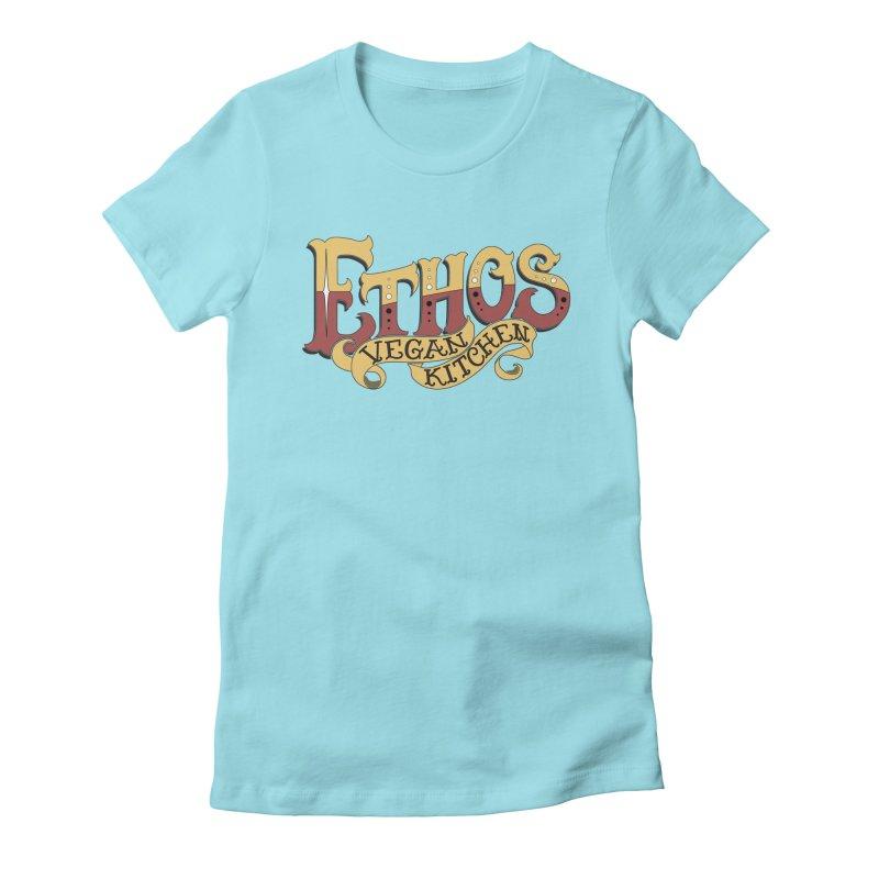 Ethos Logo Women's Fitted T-Shirt by Ethos Vegan Kitchen's Logo Shop