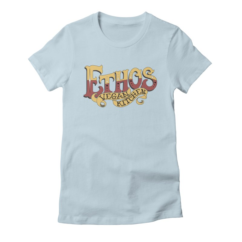 Ethos Logo Women's Fitted T-Shirt by Ethos Vegan Kitchen's Logo Shop