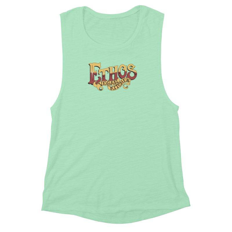 Ethos Logo Women's Muscle Tank by Ethos Vegan Kitchen's Logo Shop