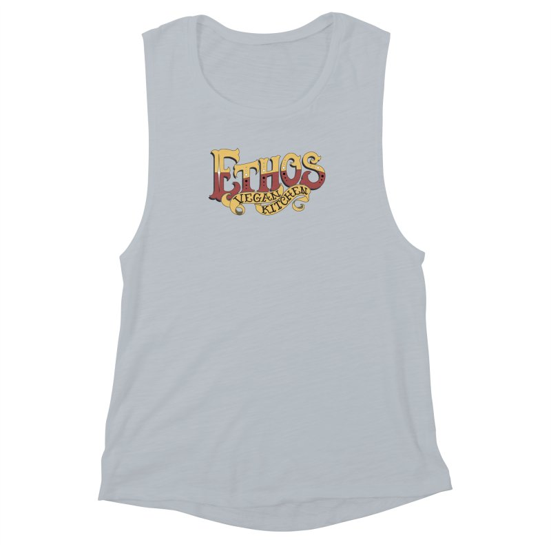 Ethos Logo Women's Muscle Tank by Ethos Vegan Kitchen's Logo Shop