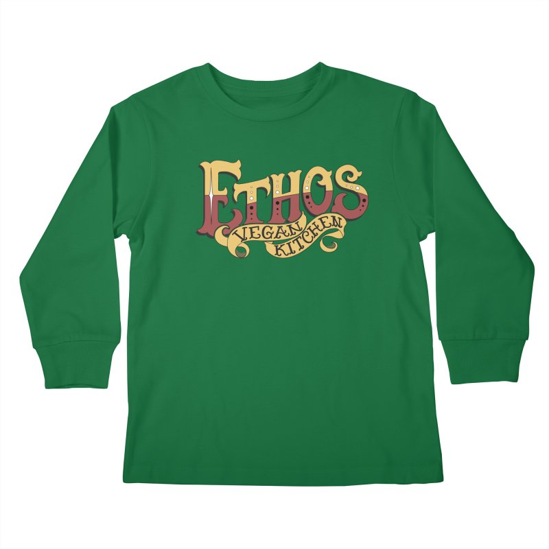 Ethos Logo Kids Longsleeve T-Shirt by Ethos Vegan Kitchen's Logo Shop