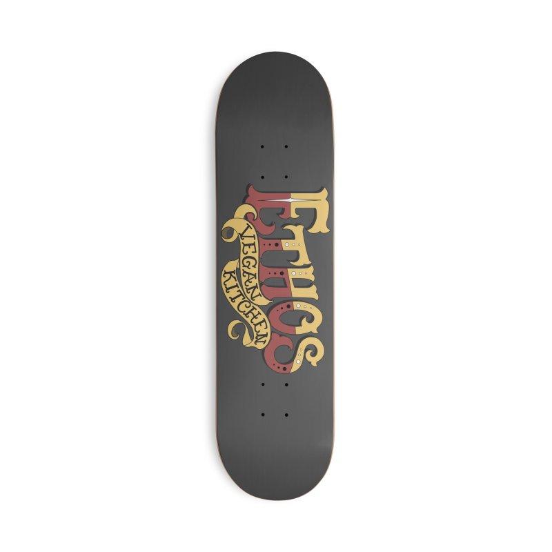 Ethos Logo Accessories Skateboard by Ethos Vegan Kitchen's Logo Shop