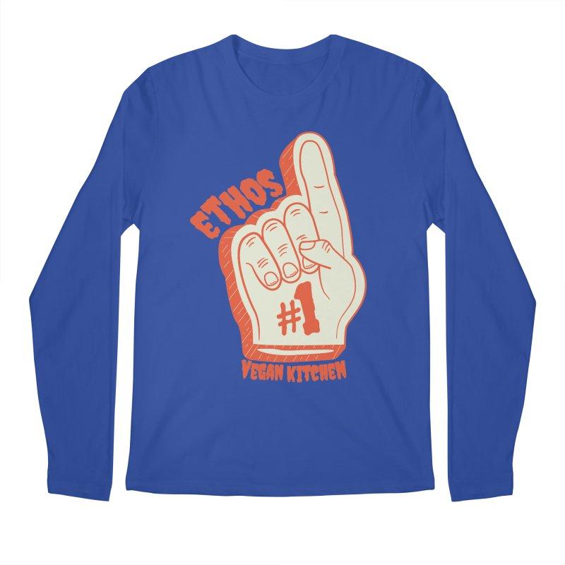 Number 1! Men's Regular Longsleeve T-Shirt by Ethos Vegan Kitchen's Logo Shop