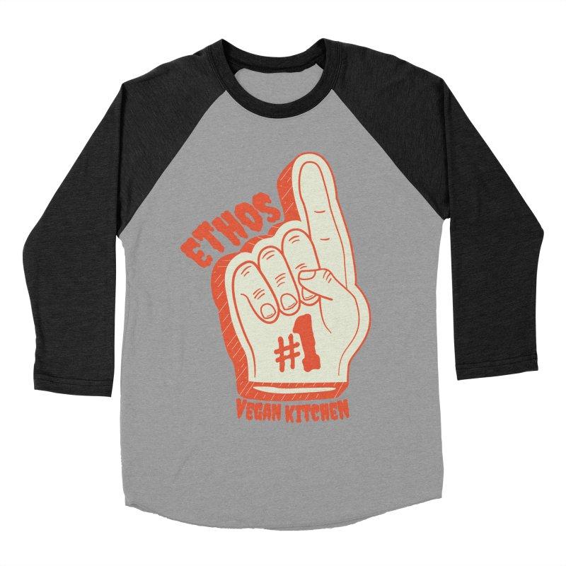 Number 1! Women's Baseball Triblend T-Shirt by Ethos Vegan Kitchen's Logo Shop