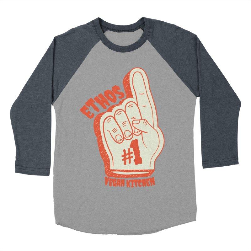 Number 1! Men's Baseball Triblend T-Shirt by Ethos Vegan Kitchen's Logo Shop