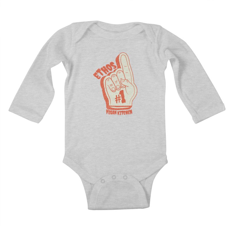 Number 1! Kids Baby Longsleeve Bodysuit by Ethos Vegan Kitchen's Logo Shop