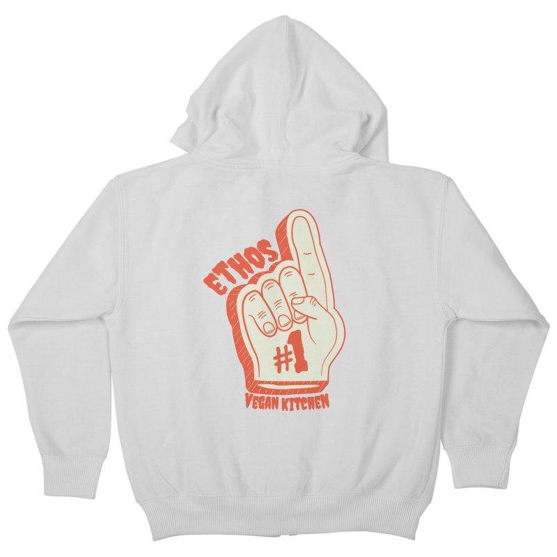 Number 1! Kids Zip-Up Hoody by Ethos Vegan Kitchen's Logo Shop
