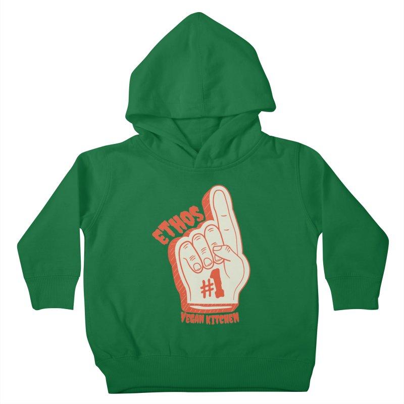 Number 1! Kids Toddler Pullover Hoody by Ethos Vegan Kitchen's Logo Shop