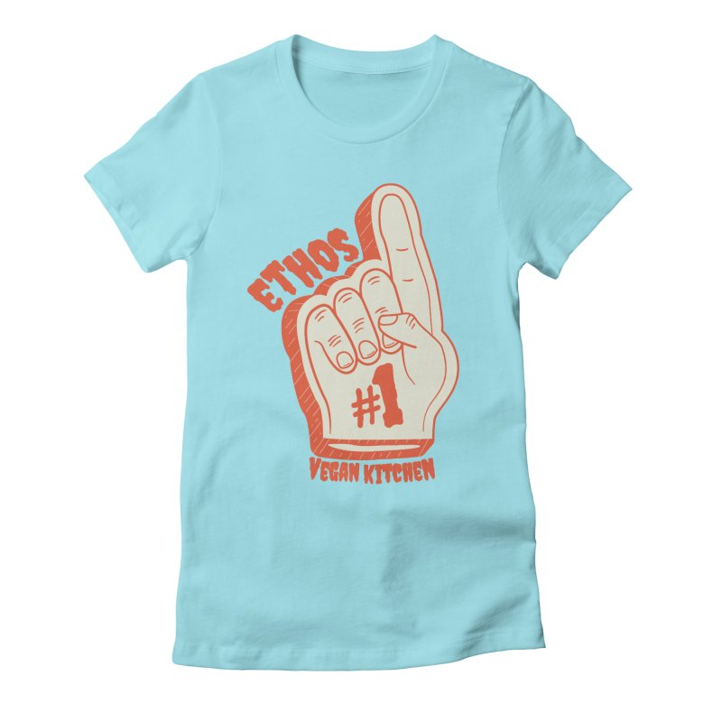 Number 1! Women's Fitted T-Shirt by Ethos Vegan Kitchen's Logo Shop