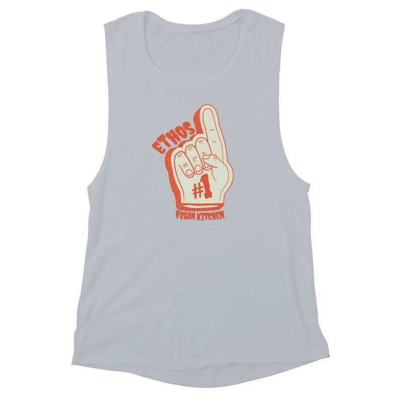 Number 1! Women's Muscle Tank by Ethos Vegan Kitchen's Logo Shop