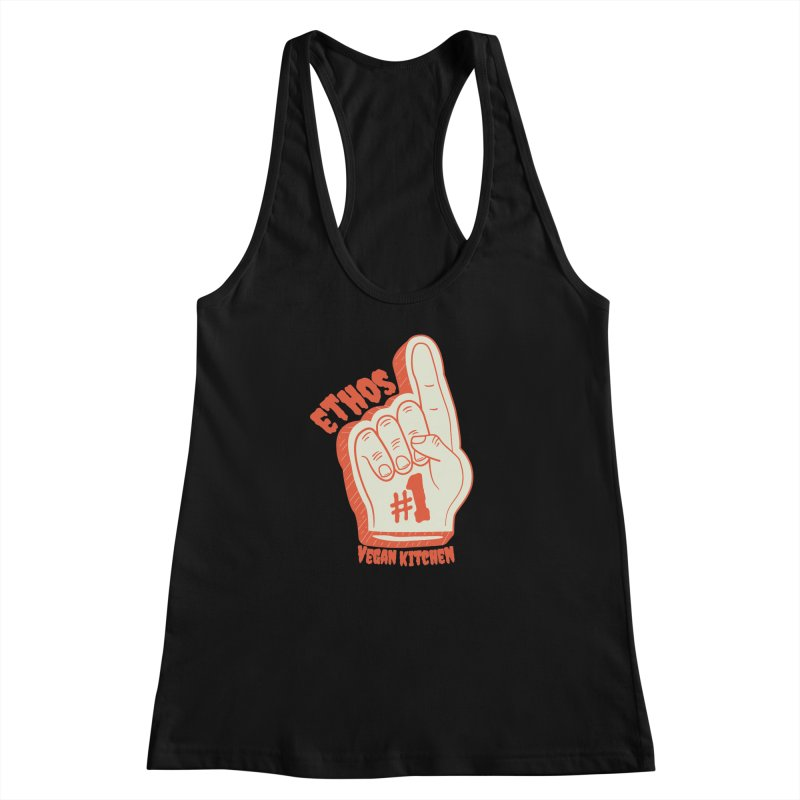Number 1! Women's Racerback Tank by Ethos Vegan Kitchen's Logo Shop