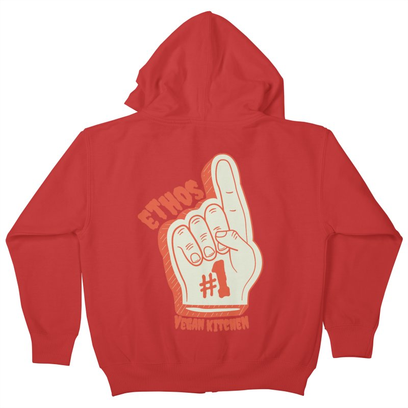 Number 1! Kids Zip-Up Hoody by Ethos Vegan Kitchen's Logo Shop