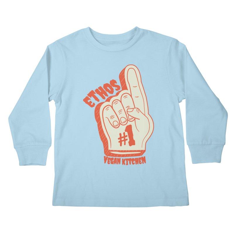 Number 1! Kids Longsleeve T-Shirt by Ethos Vegan Kitchen's Logo Shop