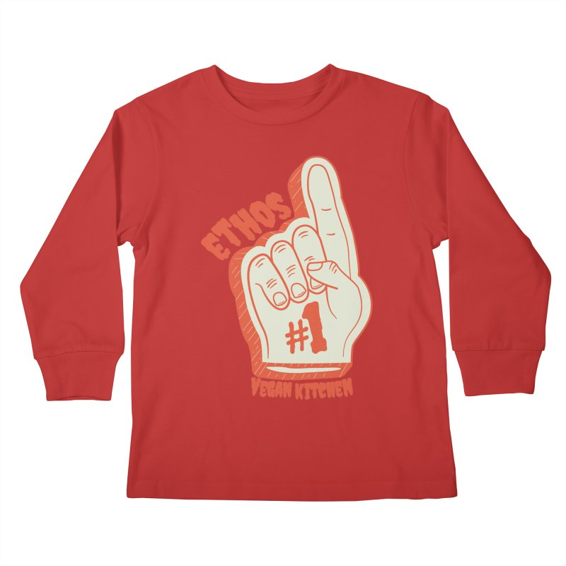 Number 1! Kids Longsleeve T-Shirt by Ethos Vegan Kitchen's Logo Shop