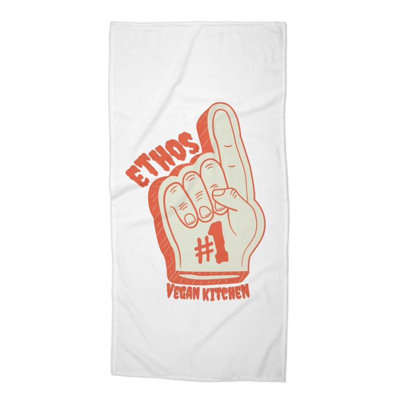 Number 1! Accessories Beach Towel by Ethos Vegan Kitchen's Logo Shop